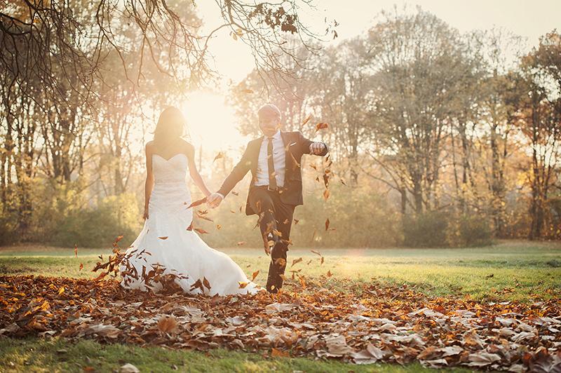Hochzeitsfotos im Herbst Berlin