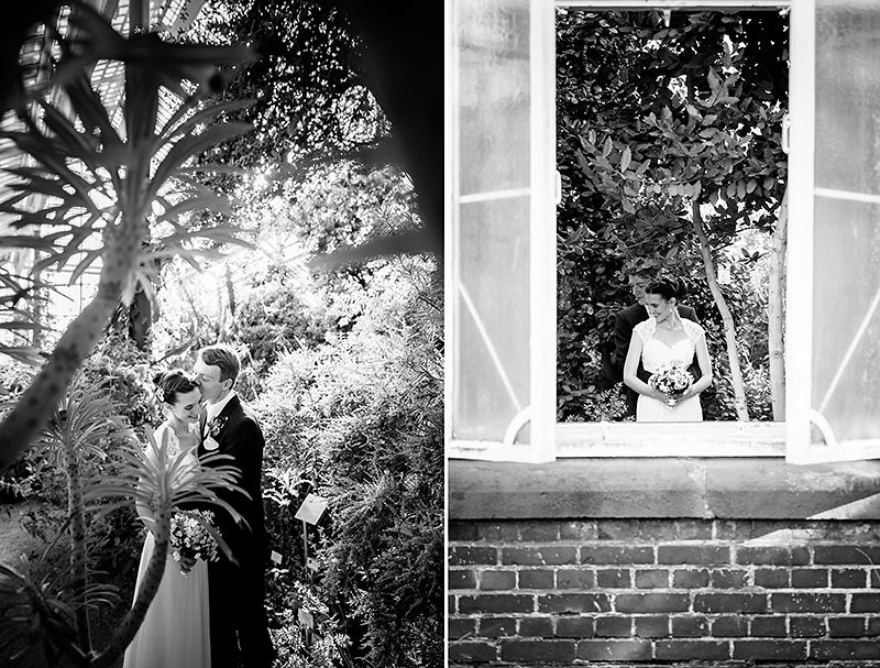 Deutsch-amerikanische Hochzeitsfotos im Botanischen Garten Berlin